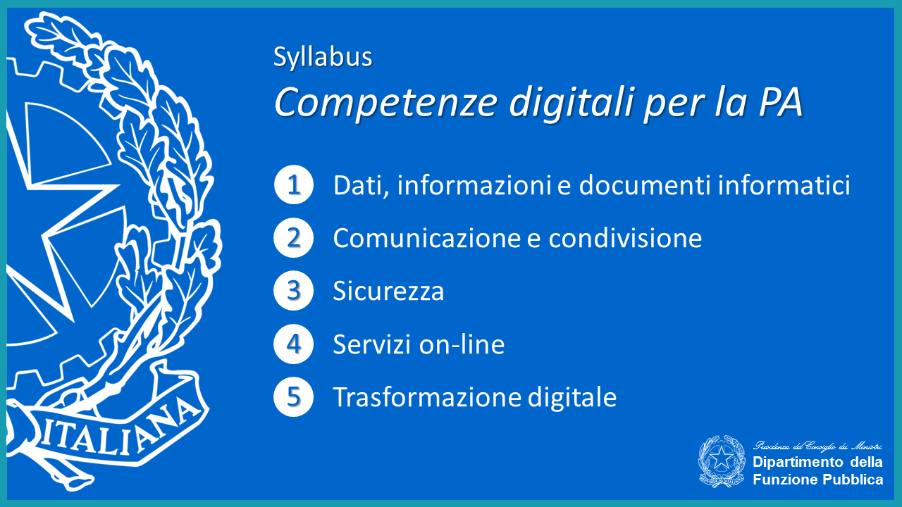 Syllabus Competenze digitali per la PA